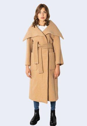 Classic coat - dark beige
