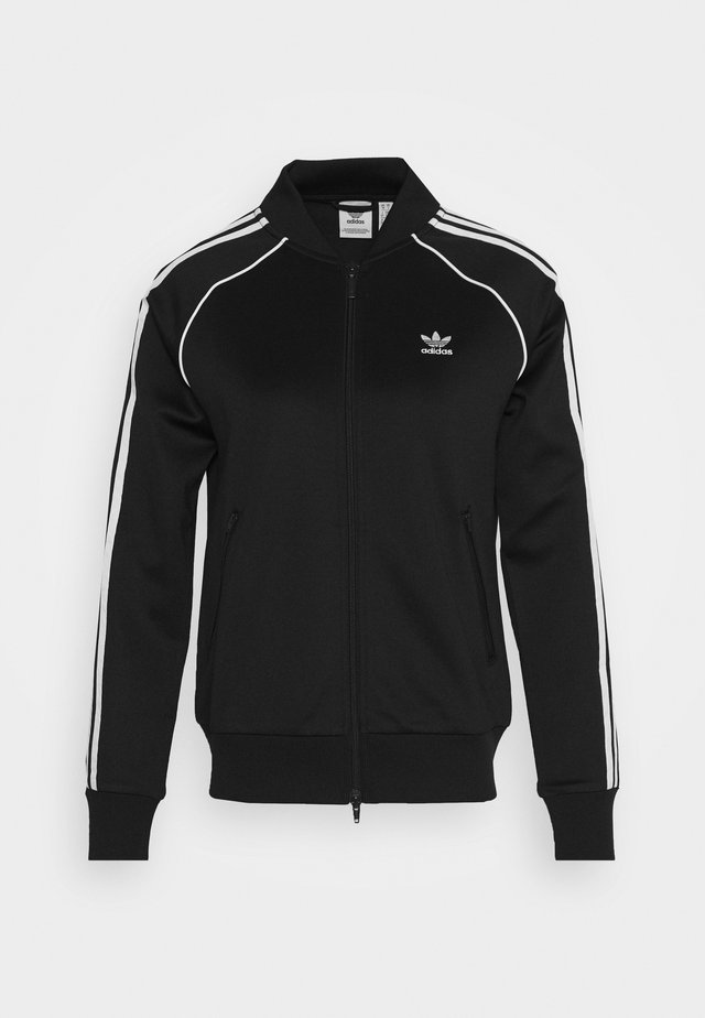 TRACKTOP - Training jacket - black/white