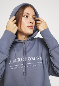 Abercrombie & Fitch - LOGO POPOVER - Hoodie - blue - 3