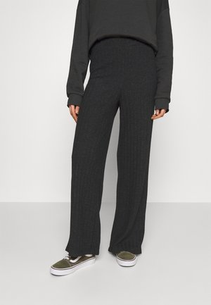 VMTILDA PANT - Trousers - dark grey melange
