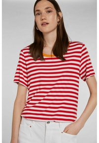 Oui - Print T-shirt - white red - 4