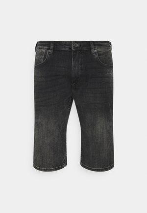 BERMUDA - Denim shorts - grey stret