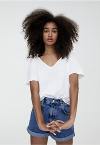 PULL&BEAR - T-shirt basic - white - 3
