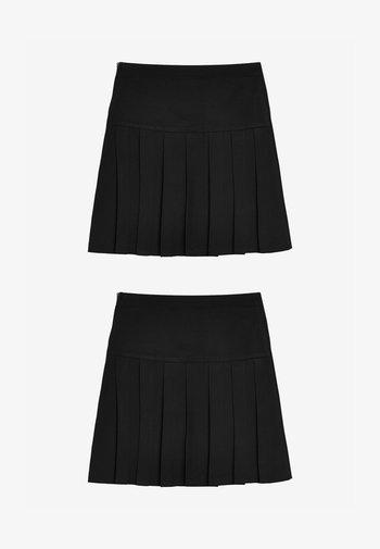 2 PACK - A-line skirt - black
