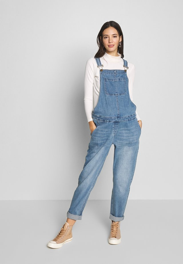 DUNGAREE - Tuinbroek - mid blue wash