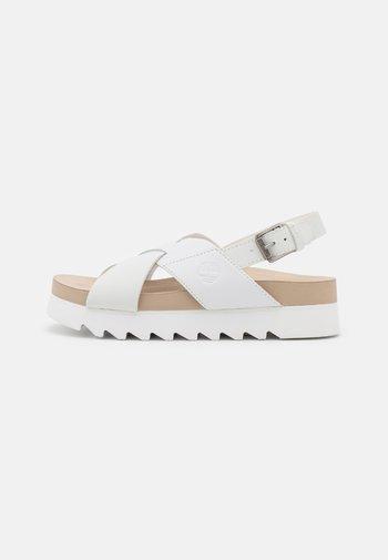 SANTAMONICA SUNRISE XBAND - Sandály na platformě - white