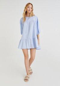 PULL&BEAR - Denim dress - light blue - 1