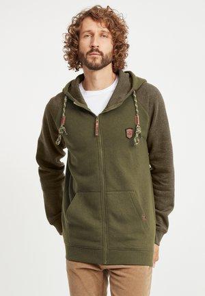 TERENCE - Zip-up hoodie - army