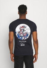 Brave Soul - T-shirt med print - blue - 0