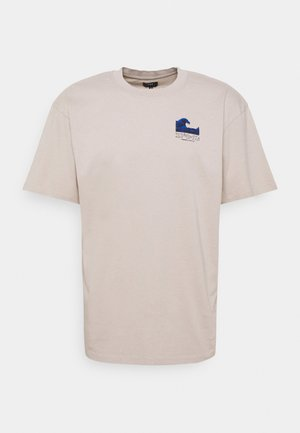 THE WAVE II UNISEX - Print T-shirt - silver cloud