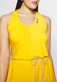 Ragwear Plus - MILIE PLUS - Žerzejové šaty - yellow - 5