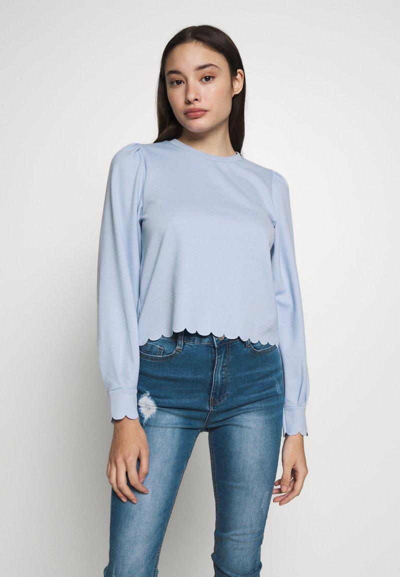 Pieces Petite - PCAUDREY IF PETITE - Long sleeved top - kentucky blue