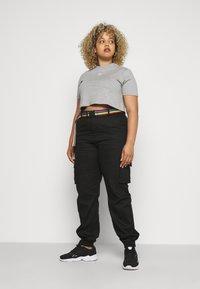 adidas Originals - CROPPED TEE - T-shirt basic - medium grey heather - 1
