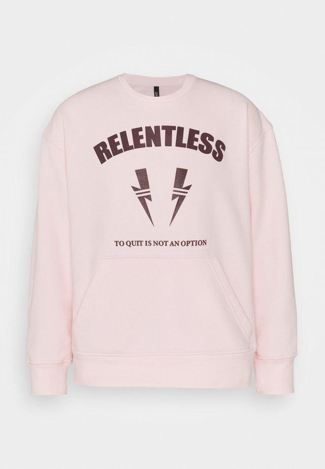 RELENTLESS SPORT BOLTS - Sweatshirts - pink/cabernet