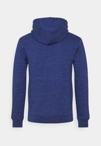 Les Petits Basics - HOODIE CAFÉ & CROISSANT UNISEX - Sweatshirt - mid heather blue - 1