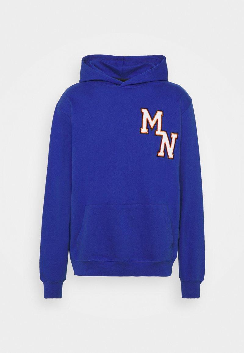 Mennace - BADGE REGULAR HOODIE UNISEX - Sweatshirt - blue