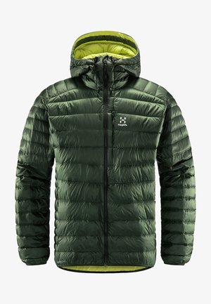 ROC DOWN HOOD - Down jacket - fjell green