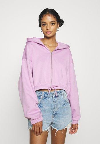 MIRIAM ZIP HOODIE - Zip-up sweatshirt - purple