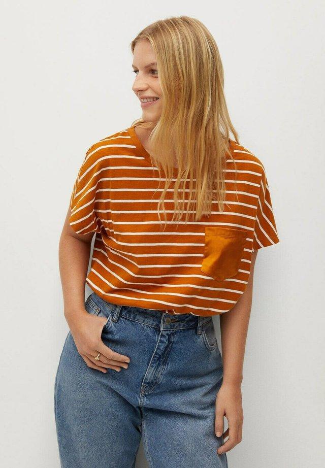 MAIZ - T-shirt print - mosterd