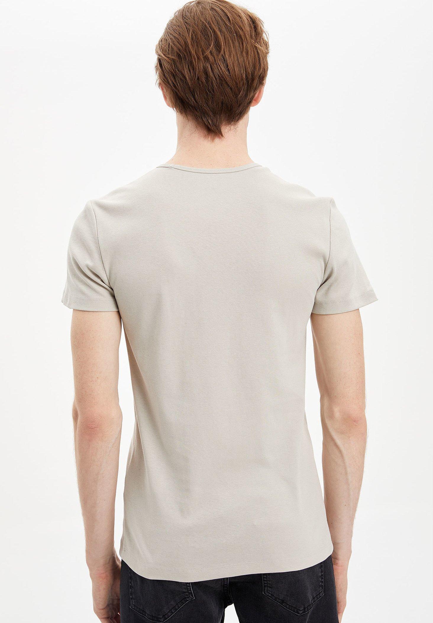 DeFacto Print T-shirt - beige wHB0o