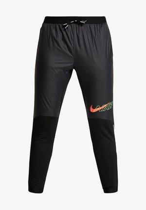 ELITE - Teplákové kalhoty - black/scream green/bright crimson