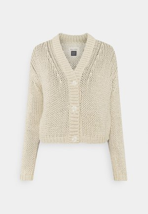 CARDIGAN  LONG SLEEVE V NECK - Cardigan - summer taupe