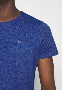 Tommy Jeans - SLIM JASPE C NECK - Jednoduché triko - blue - 3