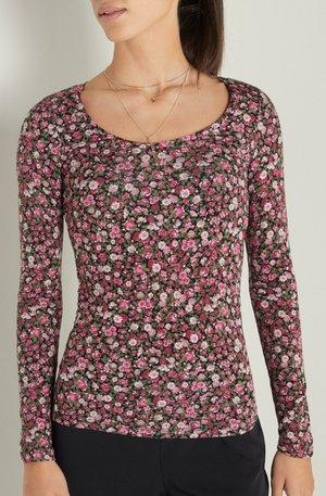 Long sleeved top - elfenbein nero st.wild pinks