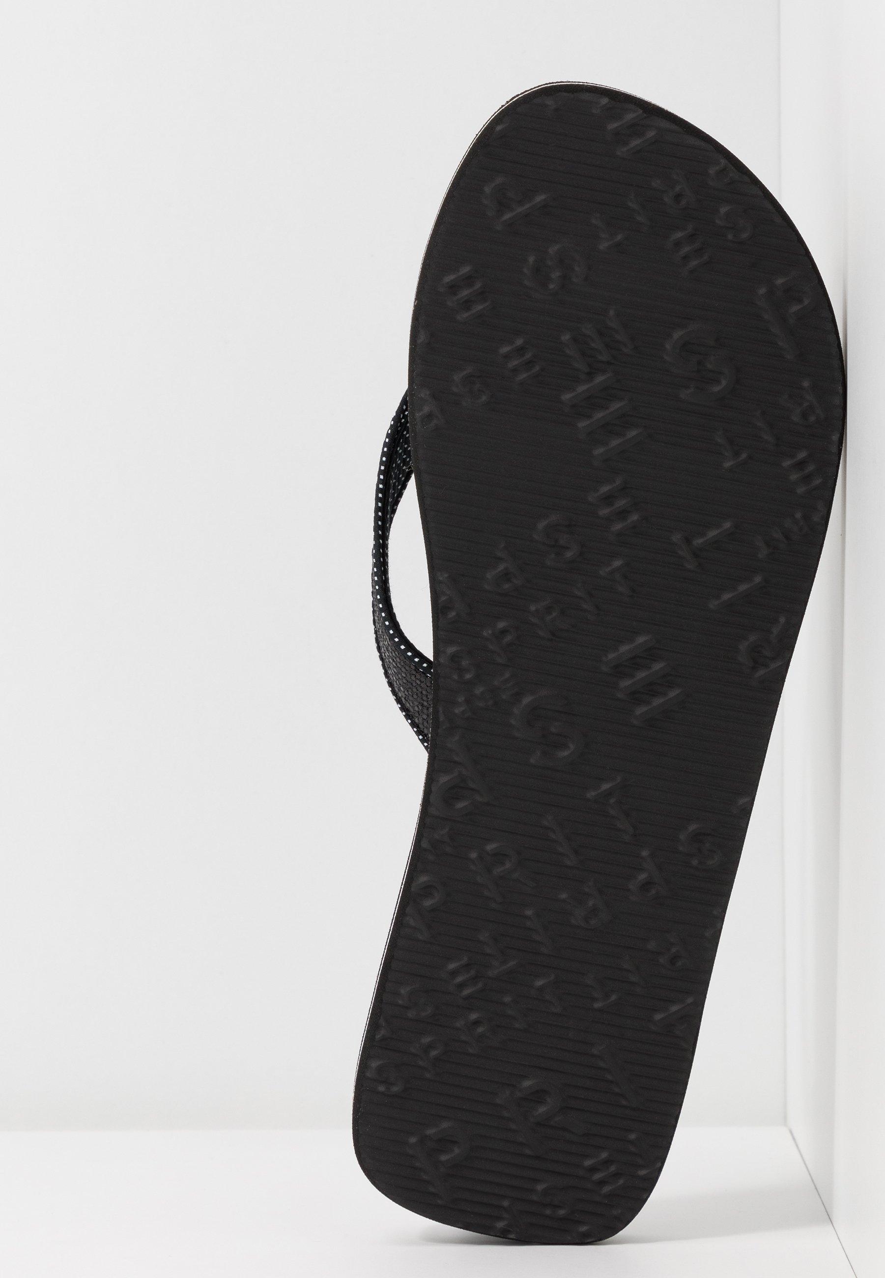 Nieuwe uitgave Opruiming Esprit GLITTER THONGS - Teensandalen - black - RfqP6
