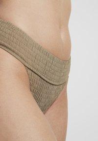 Topshop - LEG PANT - Bikiniunderdel - khaki - 4