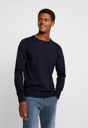 BASIC CREW NECK - Sweter - navy melange