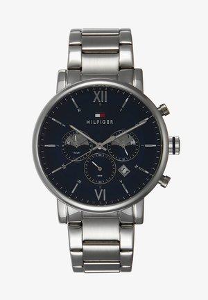 WATCH - Digital watch - silver-coloured/blue