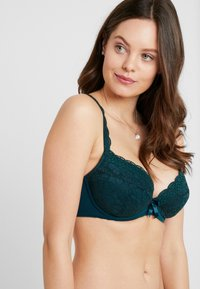 Pour Moi - REBEL PADDED PLUNGE BRA - Sujetador push-up - forest - 2