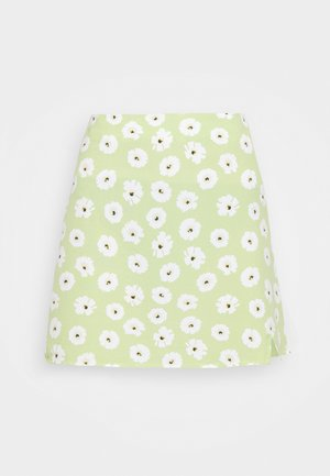 CARE NOTCH SKIRTS - Mini skirt - olive green
