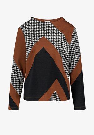 MIT PATCHOPTIK - Long sleeved top - schwarz/ sahne/ haselnuß