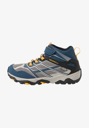 MOAB FST MID A/C WTRPF - Hiking shoes - navy/stone