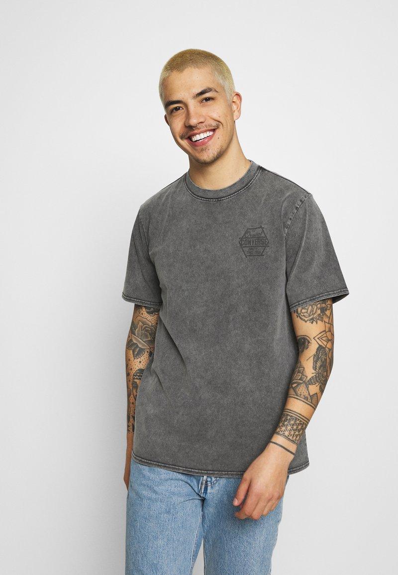 Converse - FASHION CUT AND SEW TEE - Print T-shirt - black