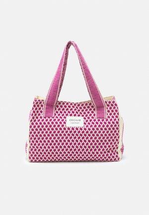 SMALL SIGNATURE - Shopping bag - birch/fuchsia