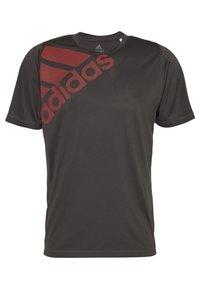 adidas Performance - T-shirt print - grey - 4