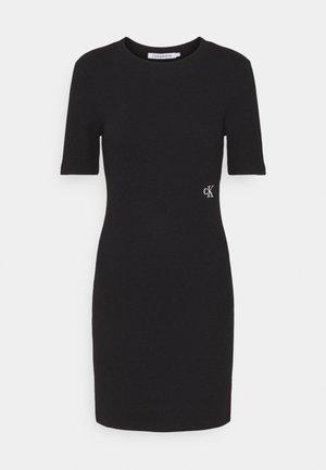 SLUB DRESS - Shift dress - black