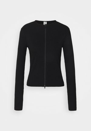 ZIPPED UP  - Chaqueta de punto - black