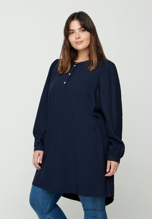WITH PUFF SLEEVES - Tunic - dark blue