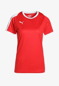 LIGA - Print T-shirt - red/white
