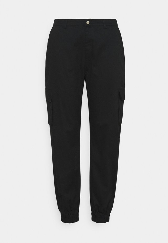 PLUS SIZE PLAIN TROUSER - Pantalon cargo - black