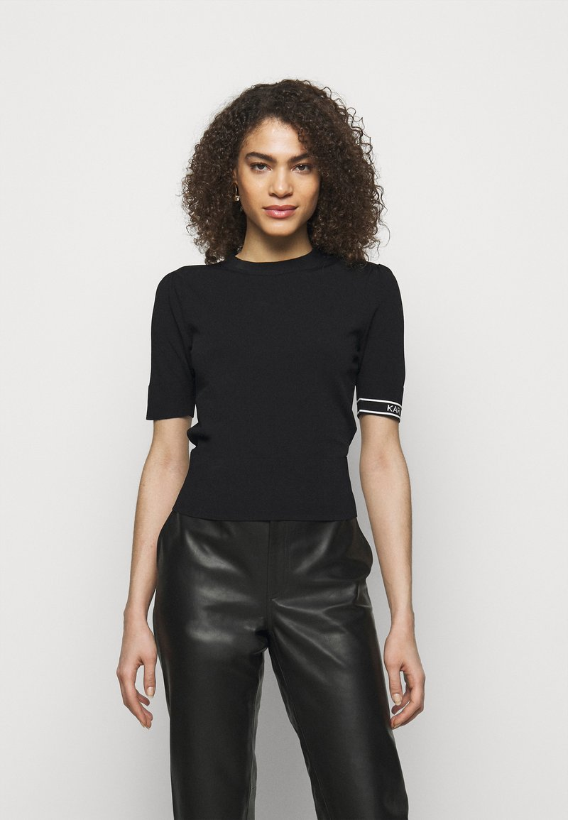 KARL LAGERFELD - PUFF LOGO - T-shirt imprimé - black