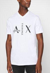 Armani Exchange - T-Shirt print - white - 4