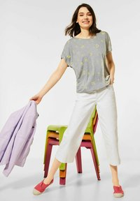 Cecil - Print T-shirt - grey - 2