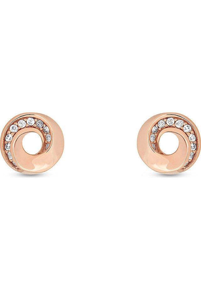 JETTE SILVER DAMEN-OHRSTECKER 925ER SILBER 22 ZIRKONIA - Earrings - rosé