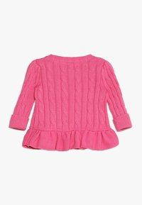 Polo Ralph Lauren - PEPLUM CARDI BABY - Kardigan - baja pink - 1