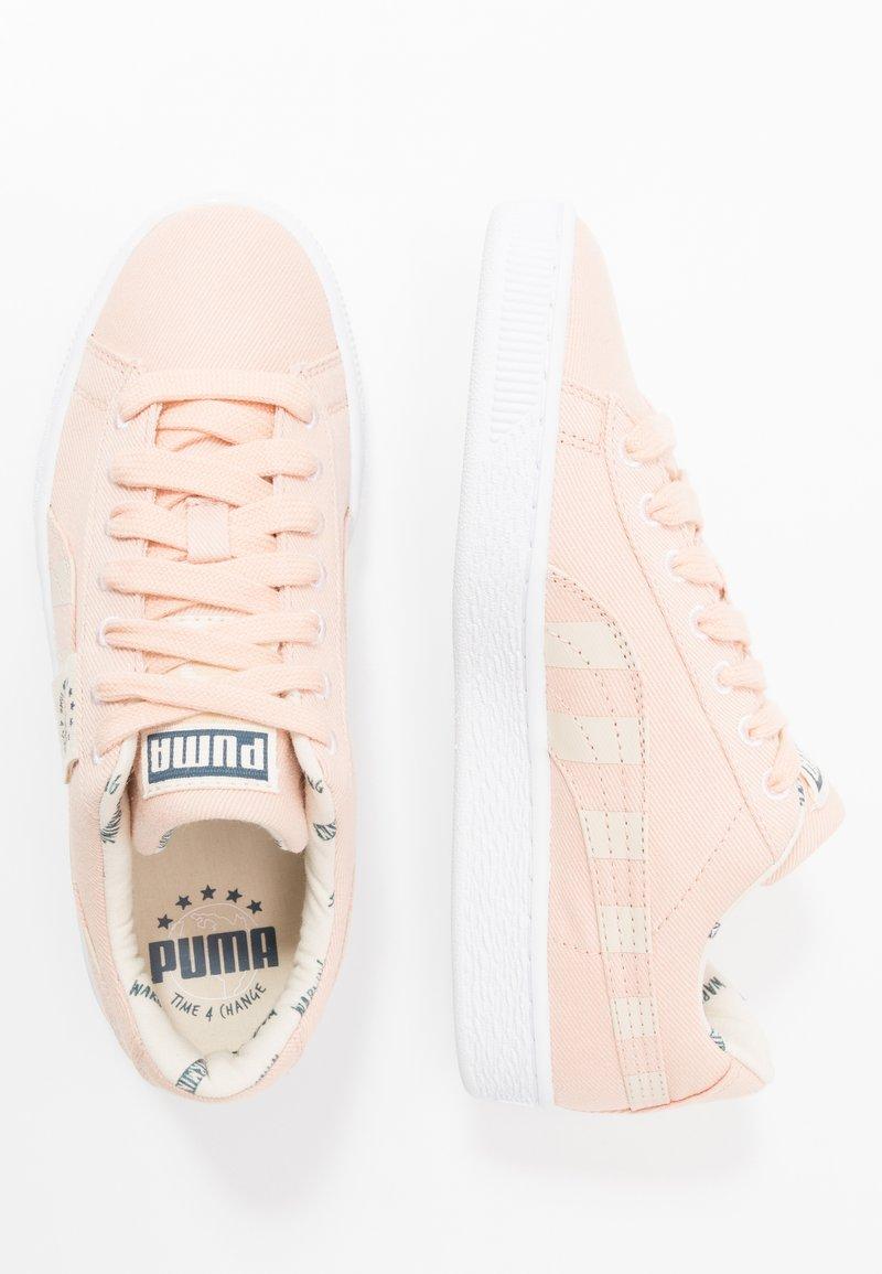 Puma - BASKET T4C - Sneakers basse - pink sand/tapioca